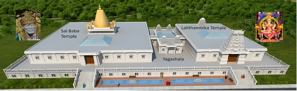 Proposed Shirdi Sai Mandir Temple rendering